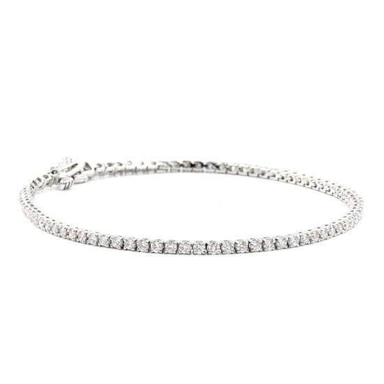 2cttw 14k White Gold Diamond Tennis Bracelet