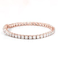 8cttw 14k Rose Gold Tennis Diamond Bracelet | B2129