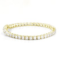 8cttw 14k Yellow Gold Diamond Tennis Bracelet | B2128