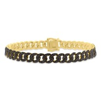 Black Diamond Pave Link Bracelet | B2134