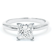 Princess Cut Pre-Set Engagement Rings
