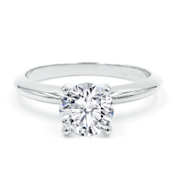 Round Cut Pre-Set Engagement Rings