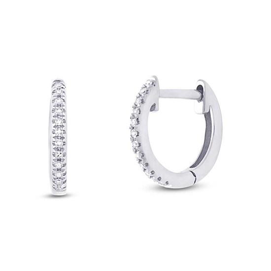 Mini Diamond Huggie Hoop Earrings