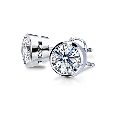 diamonds gold sea collections all white products diamond grande stud set earrings wave in bezel azelia