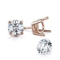 Four Prong Stud Earrings For Round Diamonds | EP101