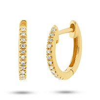 Mini Diamond Huggie Hoop Earrings, $290