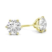6 Prong Diamond Stud Earring Setting | E5218