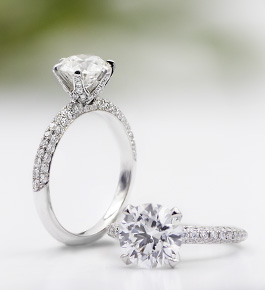 R3138 | Perfect Solitaire with 3 Row Pave