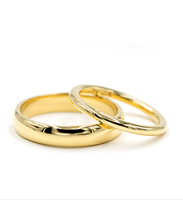 RB1001 and R2999 | Solid Metal and Comfort Fit Wedding Bands