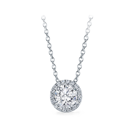 Diamond Halo Pendant, Choose Your Size