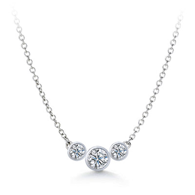 Three-Stone Diamond Pendant - P4272