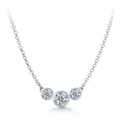 Three-Stone Diamond Pendant - P4272
