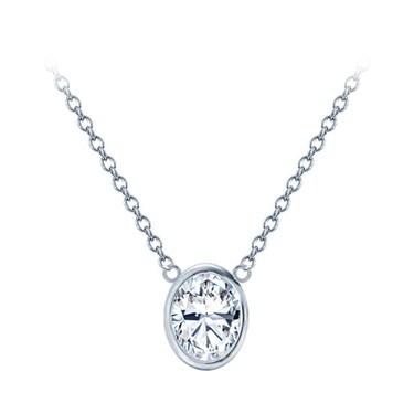 Oval bezel set diamond solitaire pendant p4321 oval bezel set diamond solitaire pendant mozeypictures Image collections