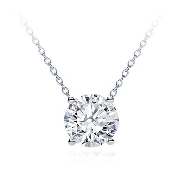 Modern solitaire diamond necklace setting p5196 modern solitaire diamond necklace setting aloadofball Images