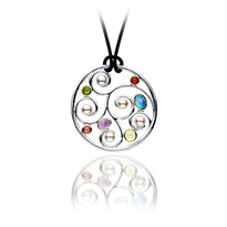 Silver And Gold Multi-Gemstone Necklace | PS1082