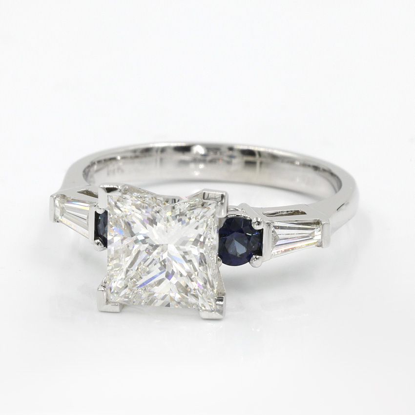 Shown with 1.99 ct. Princess F VS1