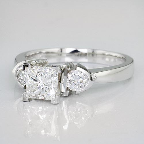 Engagement Setting with Round Diamonds