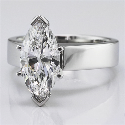 Flat Edge Solitaire Setting (3.0mm)