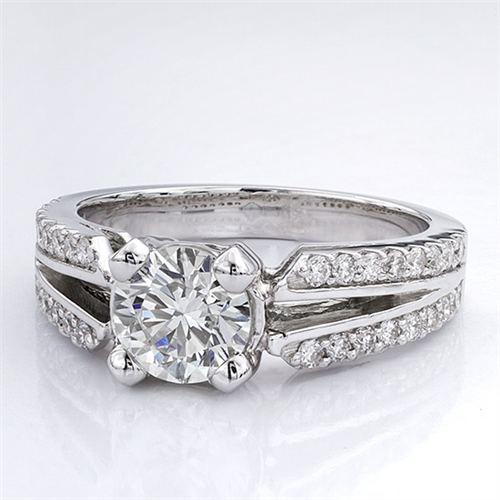 1/3 ct. tw. Pave Setting for Round Diamond