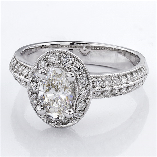 Pave Setting for Oval Diamond