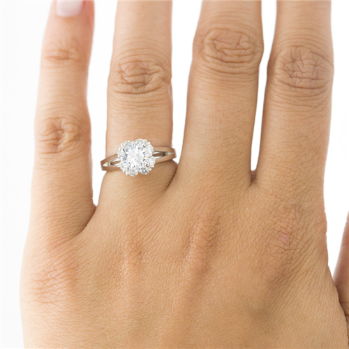 Petal Halo Diamond Engagement Setting