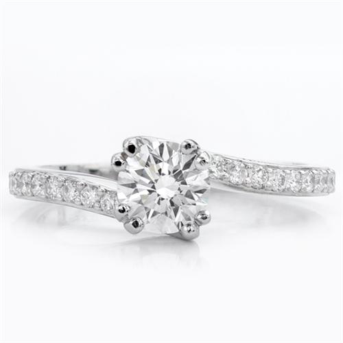 Diamond Swirl Engagement Setting