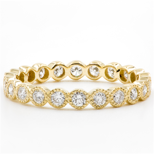 Vintage Style Eternity Band With Round Diamonds