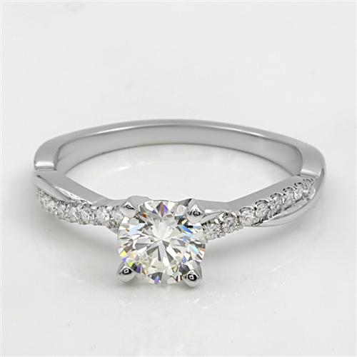 Diamond Twist Engagement Ring Setting