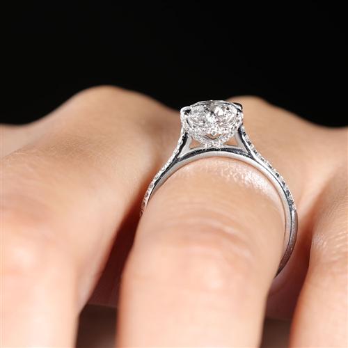 6 Prong Diamond Band and Basket Engagement Setting