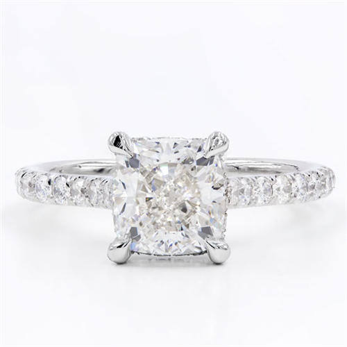 French Cut Basket Engagement Setting 2mm