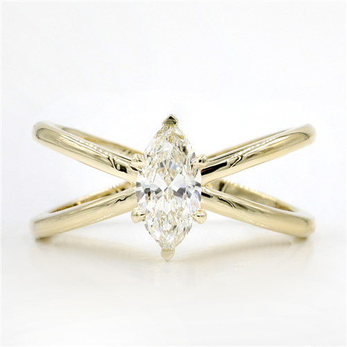 Criss Cross Engagement Ring Setting