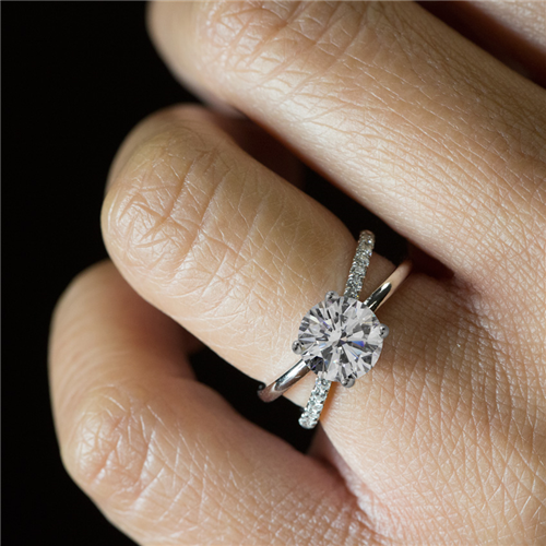 Criss Cross Diamond Engagement  Setting