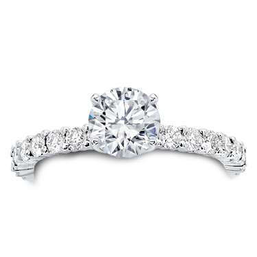Shared Prong Diamond Engagement Setting