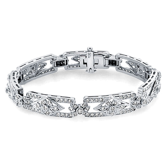 Art Deco Diamond Bracelet, 18k White Gold