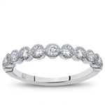 Vintage Bezel Set Diamond Wedding Band, $890