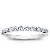 Small Shared-Prong Diamond Band, $790