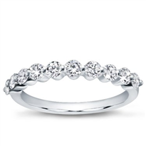 Medium Shared-Prong Diamond Band , $1,350