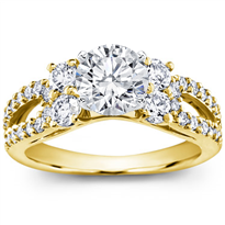 Round and Pave-Set Engagement Setting, $1,775