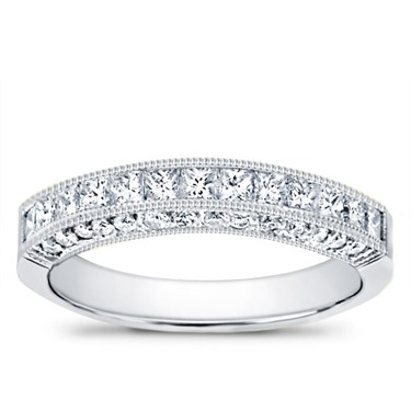 Pave And Channel Set Wedding Band