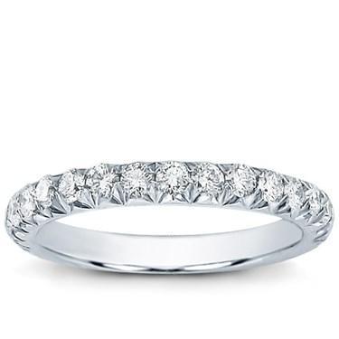 Large French Cut 083 cttw Diamond Wedding Band Adiamor R2835