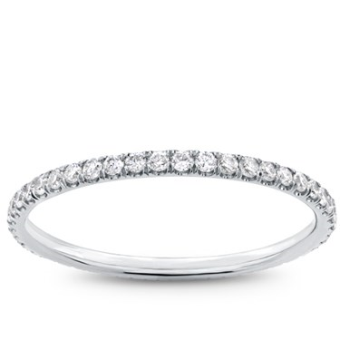 round diamond pave bands p gold band
