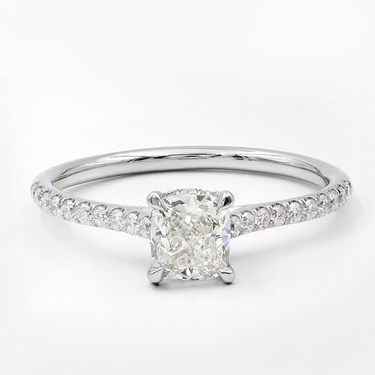 02af184b1ada 1.03cttw Thin Band Diamond Basket Engagement Ring in Platinum ...