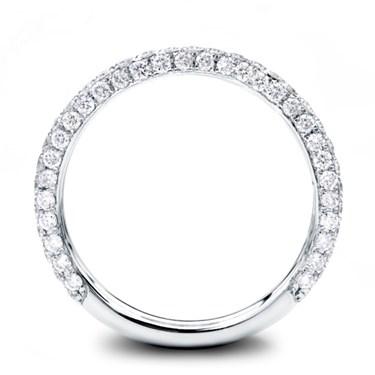 3 Row Pave 12 cttw Diamond Wedding Band 22mm Adiamor R3086