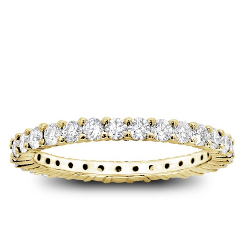 Shared-Prong 1cttw Diamond Eternity Band