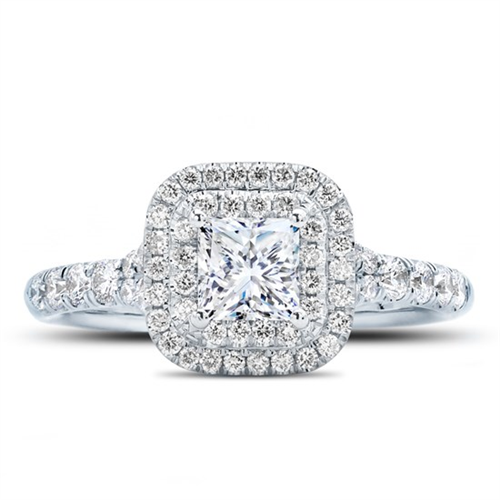 Princess Double Halo Engagement Ring Setting