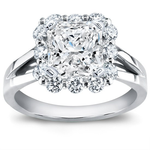 Prong-Set Halo Diamond Engagement Setting