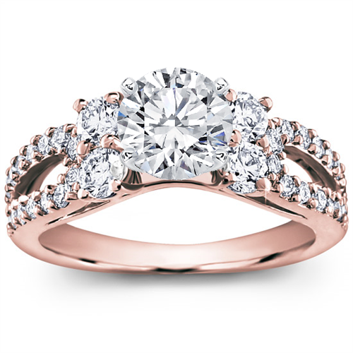 Round and Pave-Set Engagement Setting