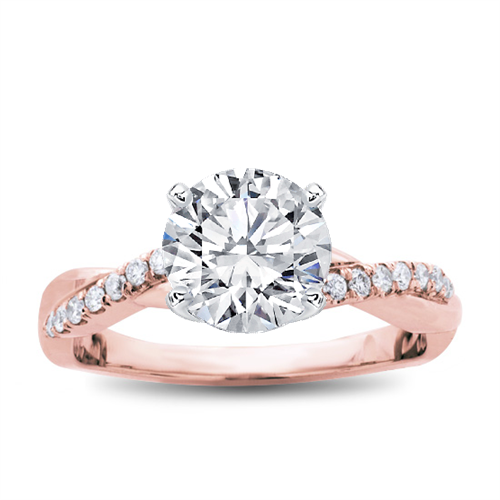 17+ Rose Gold Engagement Rings Twist Gif