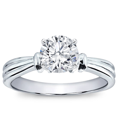 Ridged Solitaire Setting