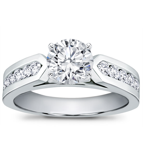 1/2 ct. tw. Channel-Set Engagement Setting